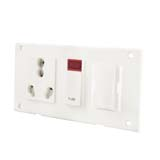 16Amp. Switch Socket Combined with Indicator & Fuse (5 in 1 )