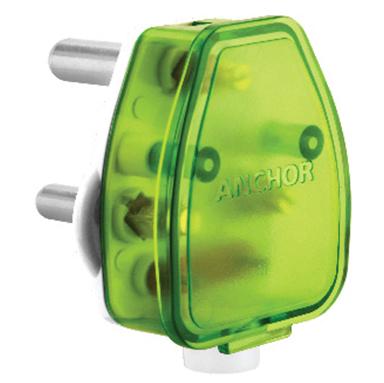 16A 3 Pin top White Base + Green Top
