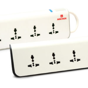 4 UNIVERSAL SOCKET WITH SINGLE SWITCH AND INDICATOR