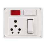 25A. and 10A. Switch and Socket Combined with Fuse and Red Indicator Lamp (5 in 1) (Heavy Duty.)