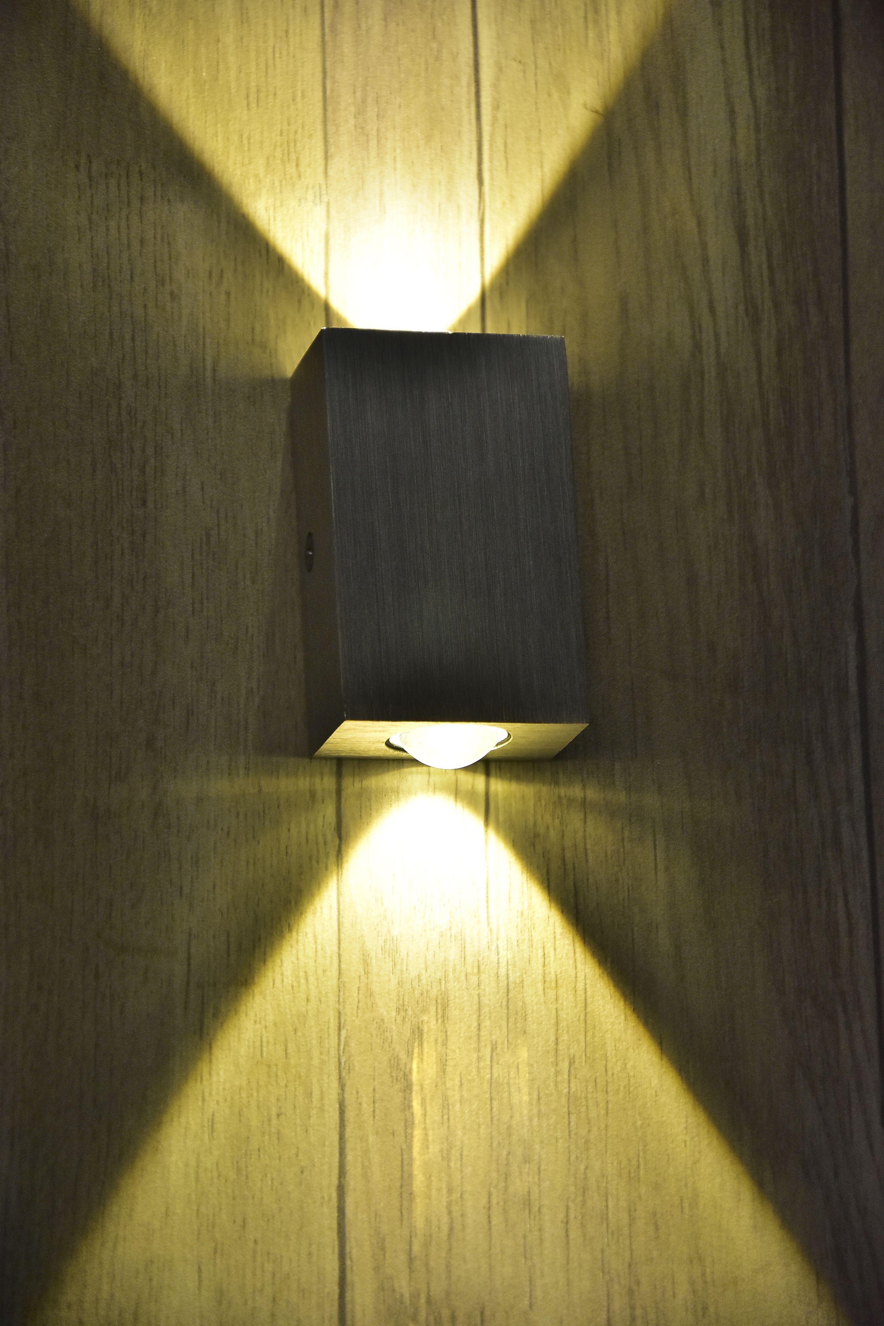 Grey Box wall light