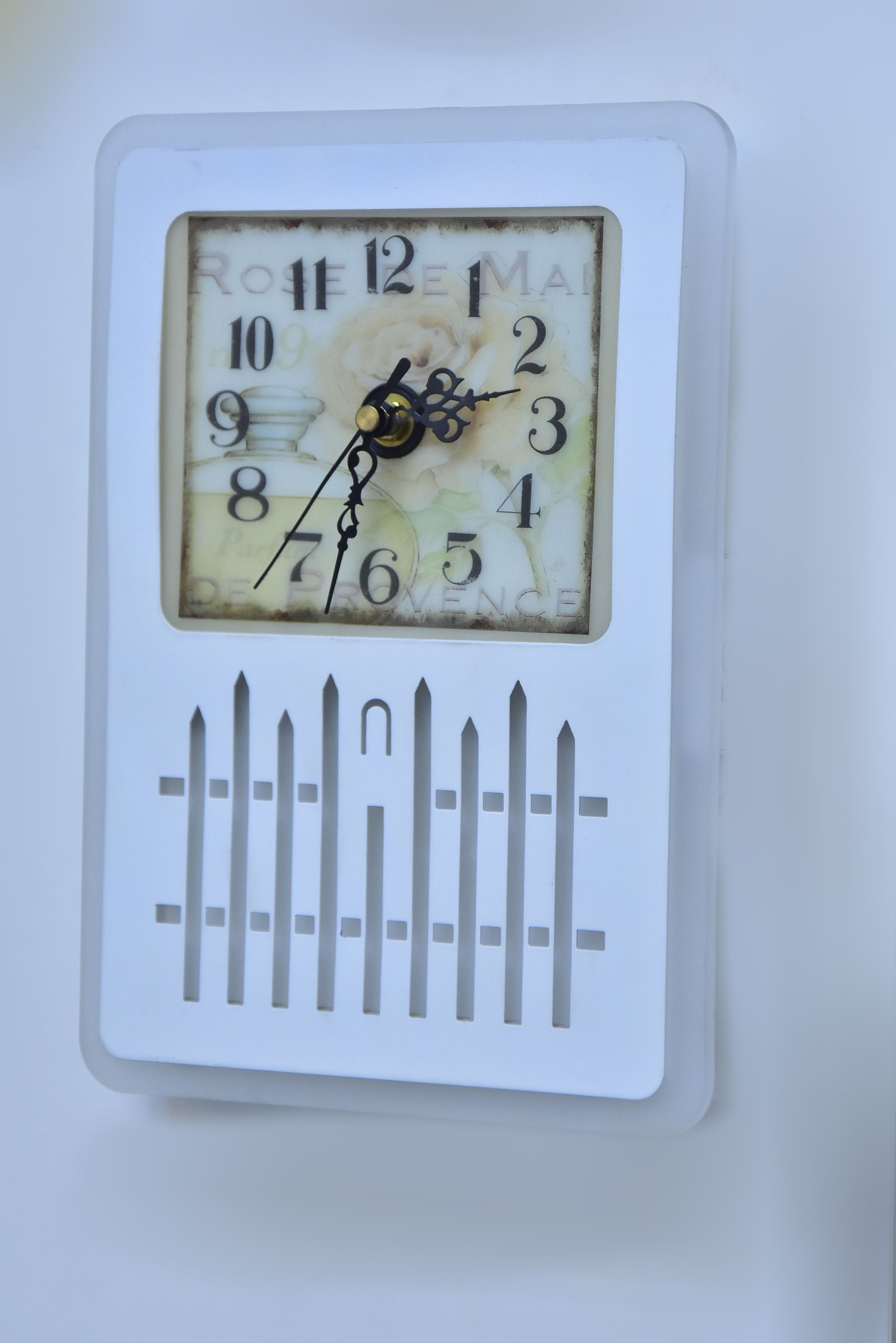 Rectangle Clock wall light