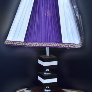 Cloth-Finish-wooden-lamp