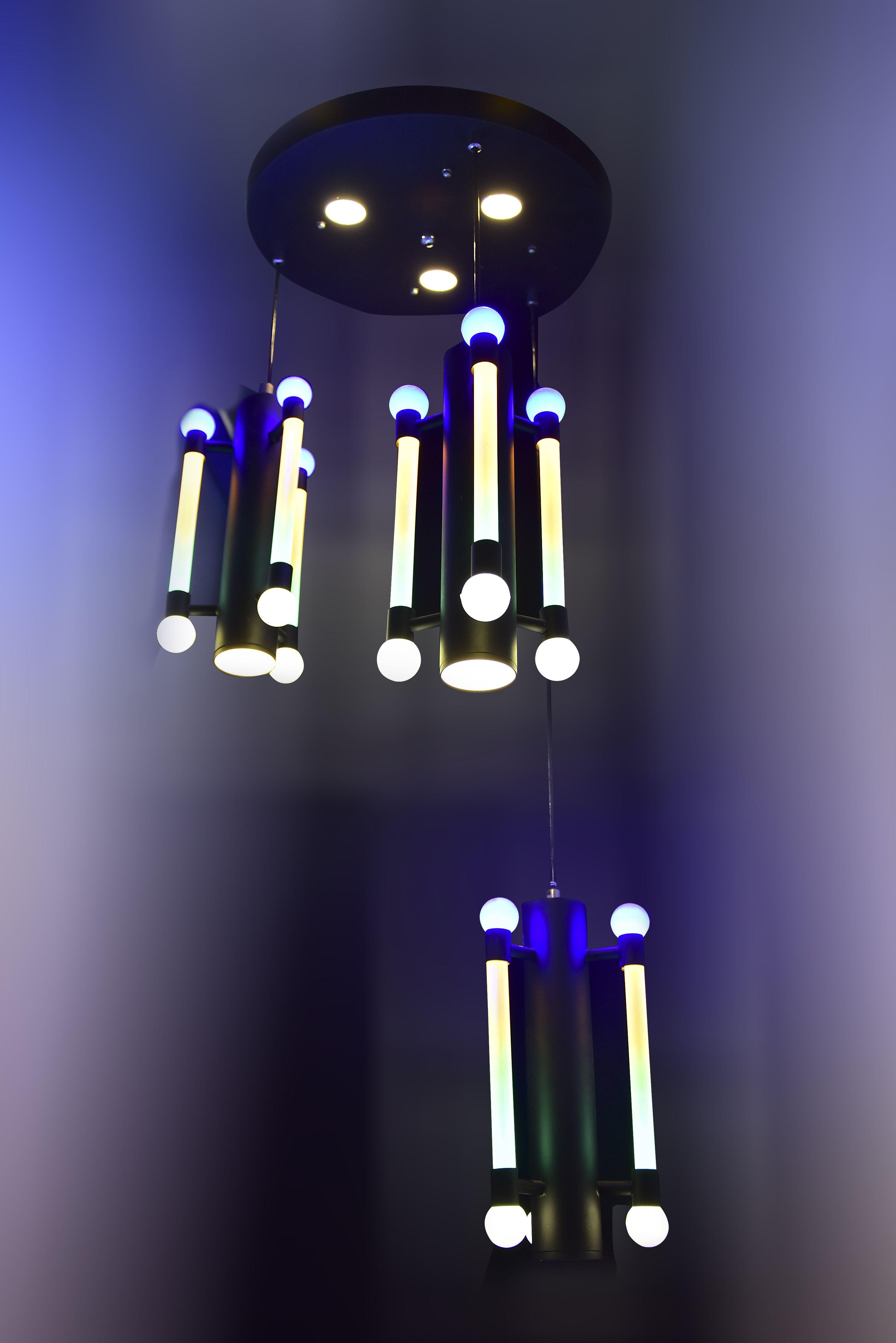 Black-Metal-White-Hanging-light