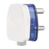 16amp 3 Pin Plug Top (Transparent Blue Base)
