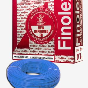 FINOLEX FLAME RETARDANT PVC INSULATED INDUSTRIAL CABLES 1100 V AS PER IS 694/1990 - BLUE - 1 SQ. MM -- 180 M COIL