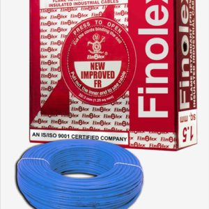 FINOLEX FLAME RETARDANT PVC INSULATED INDUSTRIAL CABLES 1100 V AS PER IS 694/1990 - BLUE - 1.5 SQ. MM -- 180 M COIL