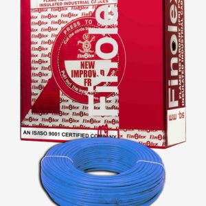 FINOLEX FLAME RETARDANT PVC INSULATED INDUSTRIAL CABLES 1100 V AS PER IS 694/1990 - BLUE - 6 SQ. MM -- 180 M COIL