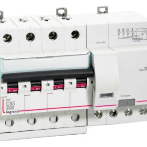 DX RCBOs - 4 pole 415 V~, AC Type - 30 mA Nominal rating 6(A)