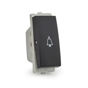 Opale bell press switch 6A Black