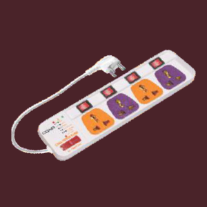 Colour 4x1 Power Strip
